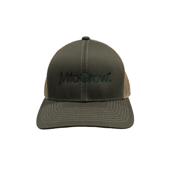 MitoGrow Green and Brown Hat